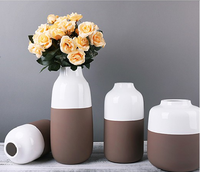 wholesale high quality handmade European modern fashion flower vase +glaze and natural vase for home decoration