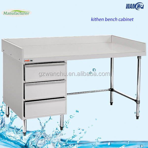 Malaysia Heavy Duty Metal Work Tables With Drawers Stainless Steel Restaurant Working Table China Factory