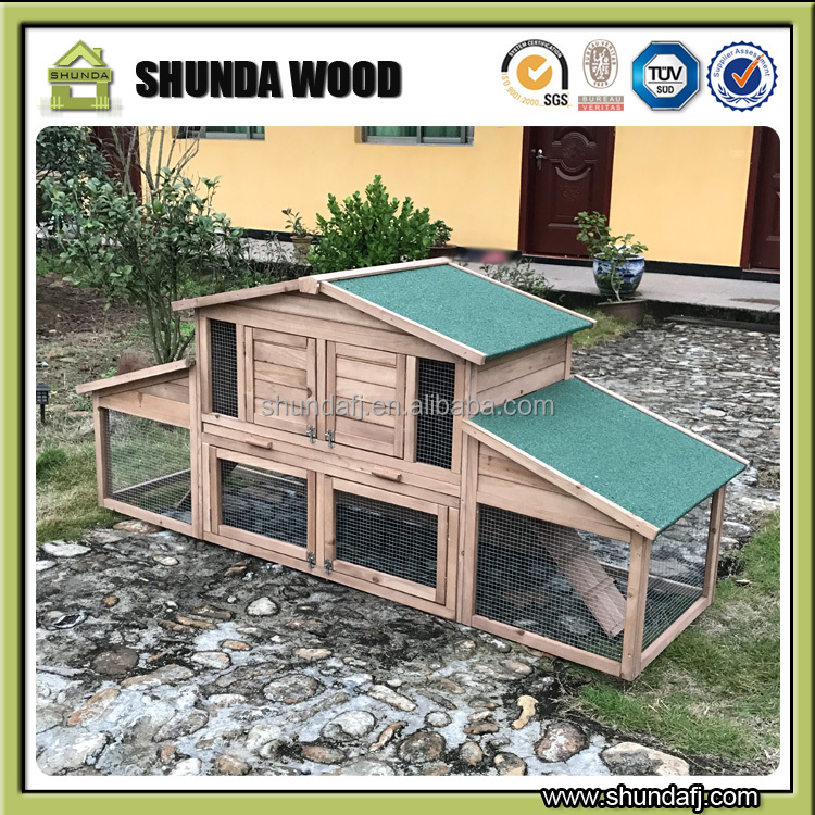 SDR14 Factory directly! <strong>Rabbit</strong> cage with Outdoor Run/pet house/wooden <strong>rabbit</strong> hutch with tray