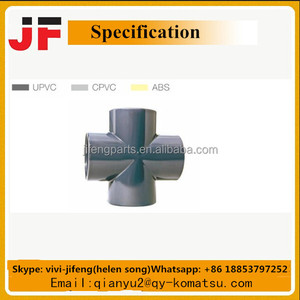 UPVC/CPVC/ABS pipe fittings cross adaptor
