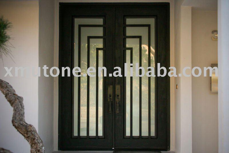 Porte d 39 entr e en fer forg portails id de produit 370535007 for Porte entree fer forge villa