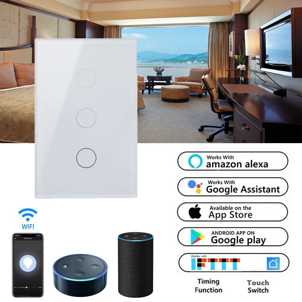 WIFI Electric Wall Switch Wifi Wireless Smart Home Automation smart switch wifi compatible with amazon Google