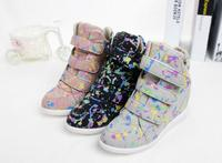 d96130t 2016 spring canvas shoes for ladies sneakers wedges casual shoes