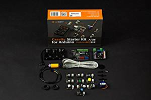 Venel--Gravity Starter Kit for open-source Arduino, Plug&Play Electronics Toolkit. Includes a UNO R3 Microcontroller. IO Extension Board, 12 Most Popular Electric Components and Sensors