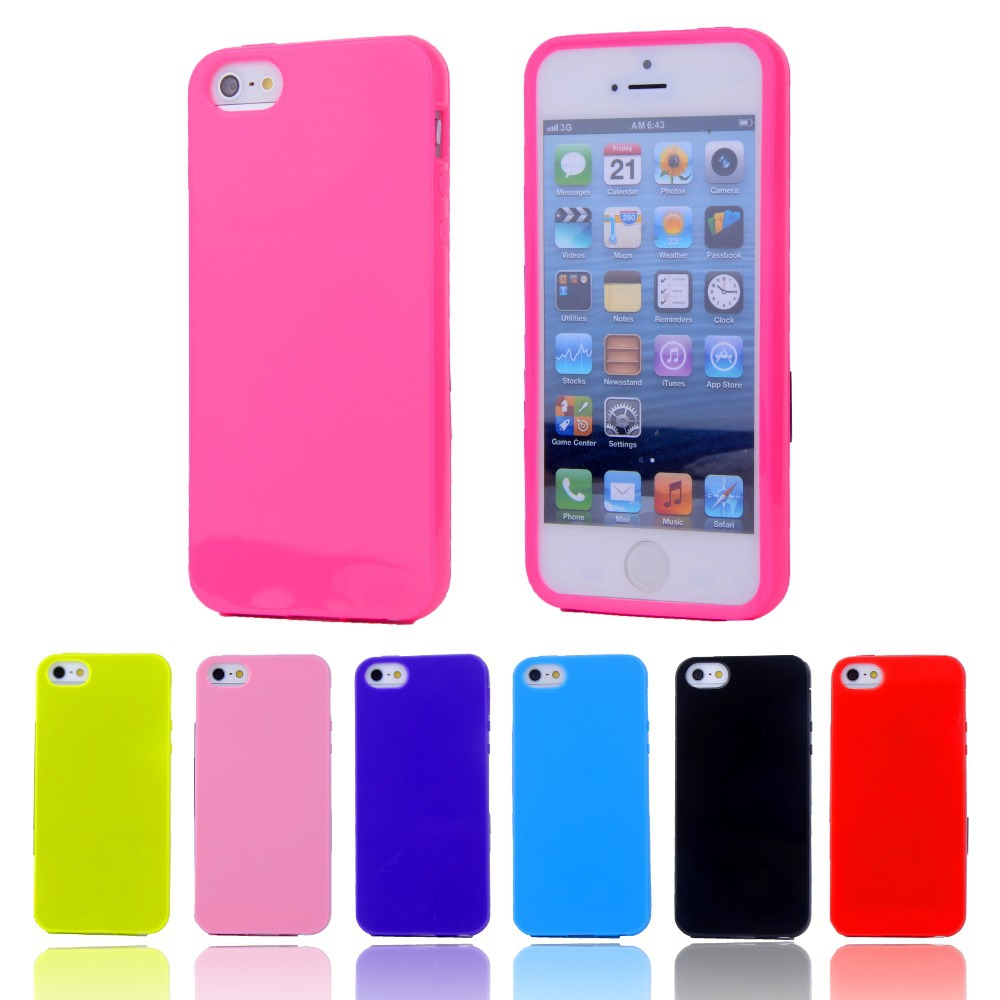 the latest 3afc7 eaa1a Candy Color Silicone TPU Gel Soft Case For Apple iPhone 4 4S Rubber  Material Soft Back Cover For iPhone4 Shockproof Phone Bags
