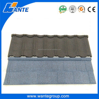 Wante factory stone coated residential roofing material/building material metal roof tile/building material roof tile