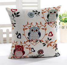 Pillows Cushion Covers Owl Embroidery Pillow Decorative Pillowcases