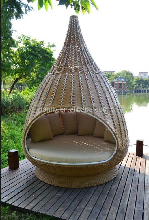 2014 Latest Design Modern Wicker Rattan Nest Bed Outdoor