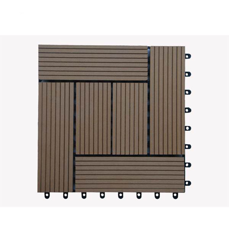 Interlock wpc deck outdoor diy tile floor in China