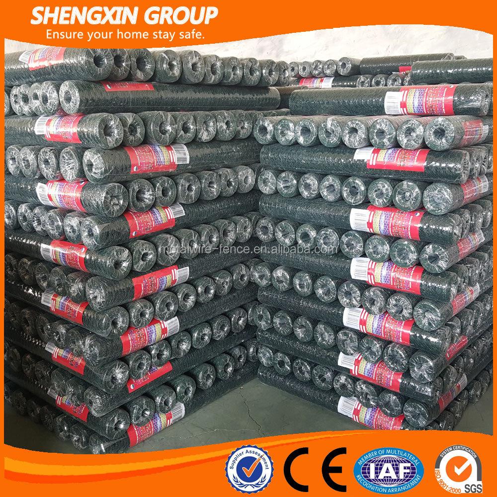 2016 China leverancier pvc gecoate zeshoekige kip gaas-ijzer gaas ...