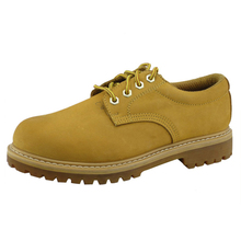 4 inch yellow nubuck leather goodyear safety work shoes