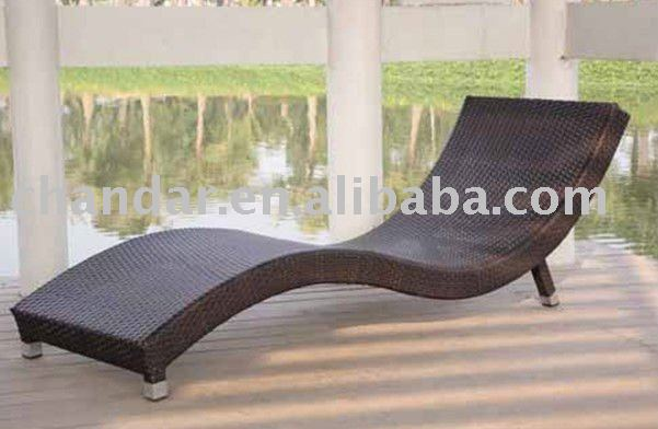 New Design S Shape Chaise Lounge,Rattan Chaise Lounge   Buy Rattan Chaise  Lounge,Beach Chair,Wicker Furniture Product On Alibaba.com