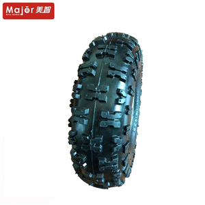 10 inch butterfly pattern pneumatic rubber tire go-kart wheel