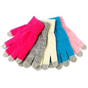 Cheap winter knit touch gloves