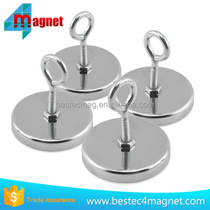 RB80 Magnetic Hook With 3M Sticker Round Base Cup Magnet Fastener with Hook Chrome Plate 80mm Diameter 110 LBS