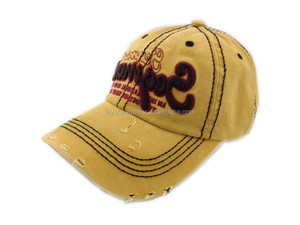 Wash Distressed Blow out 3D Embroidery Baseball Cap