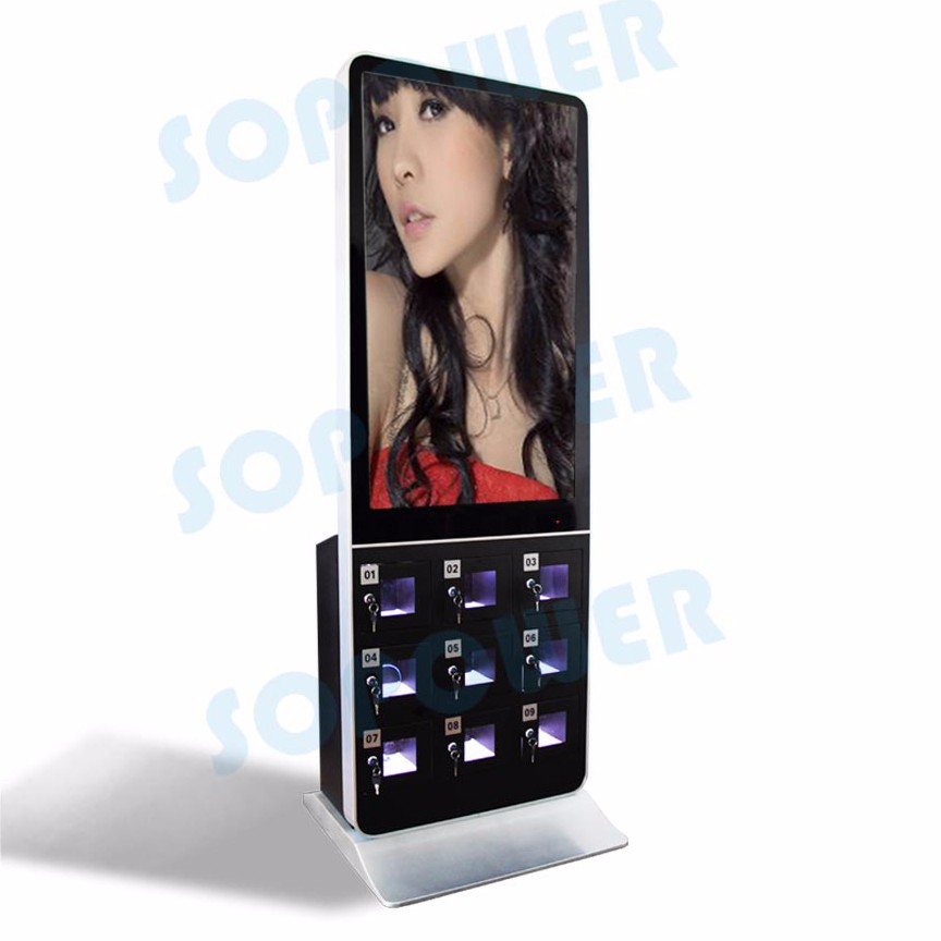 21 Inch Advertising Screen Phone Charging Station Outdoor