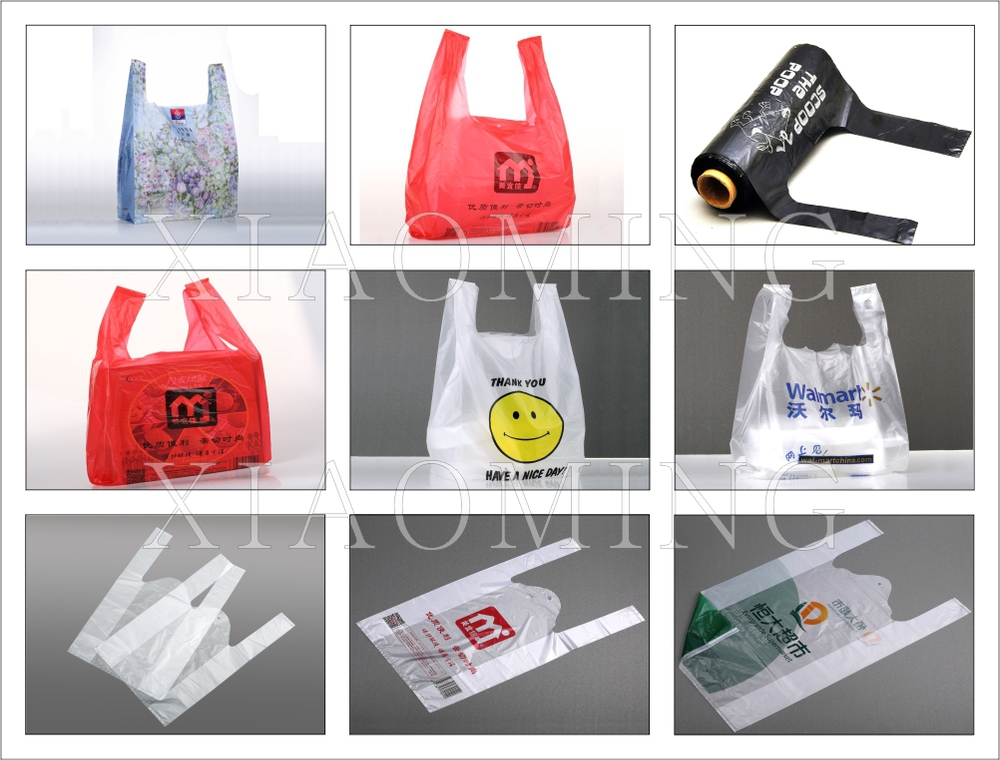 Custom size plastic bags t shirt bags shopping bags buy for Personalized t shirt bags