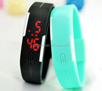 Hot Mens Womens Digital led wristband watch Date Display Sports Colors Silicone Watch