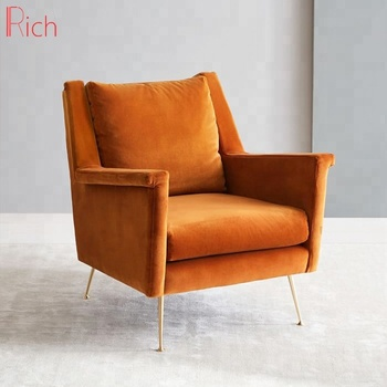Surprising Wholesale Home Furniture Wing Back Chair Modern Orange Velvet One Seater Couch Buy Single Couch Velvet Single Couch Velvet Single Couch Furniture Gmtry Best Dining Table And Chair Ideas Images Gmtryco