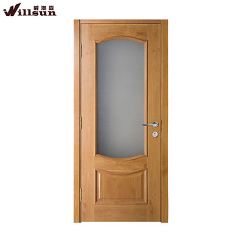 New Style Kitchen Tempered Half Glass Swinging Door Mdf