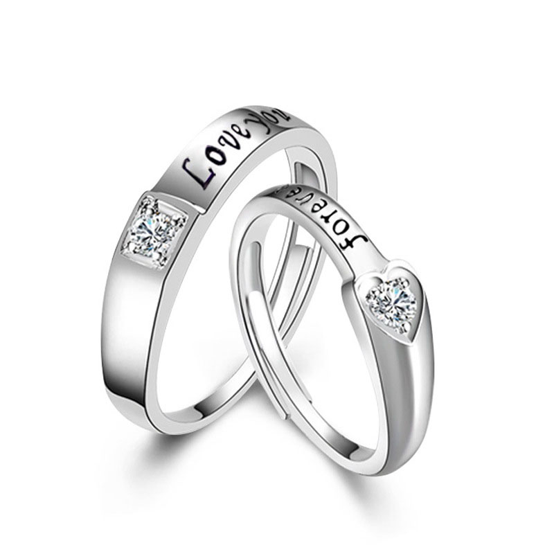 Custom Wedding Rings.Custom Wedding 5925 Sterling Silver Alphabet Letter Rings Jewelry Angel Heart Valentines Couple Ring Diamond Buy Couple Ring Angel Heart Ring 925
