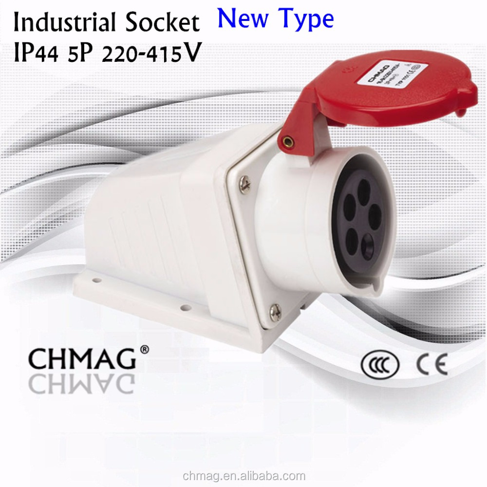 IECCEE industrial wall socket female Plug and socket 32A 5P IP44 1251