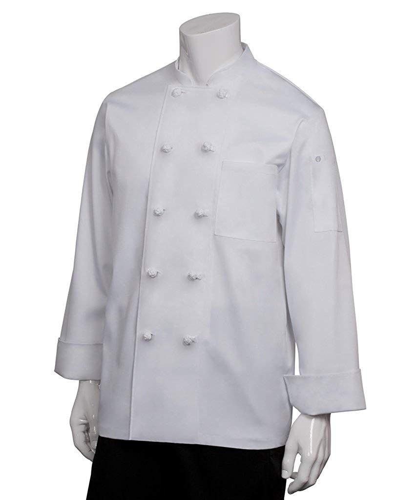 White X-Large Chef Works Mens Bordeaux Chef Coat