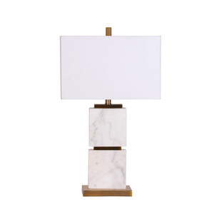 Modern decorative desk lamp New design hotel bed light/Gold metal with white marble table light Metal and marble table lamp