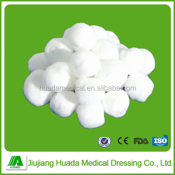 Surgical material organic absorbent cotton ball