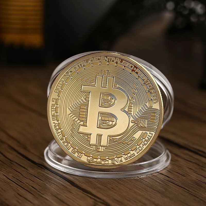 Wholesale Hot-sales Metal <strong>Crafts</strong> Gold Commemorative Old Bitcoin Coin in Factory Price Challenge Coin For Collection