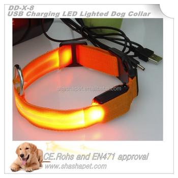usb oplaadbare huisdier product verlichte halsband geleid huisdier kraag en