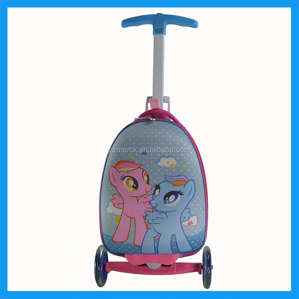 Customerized Cartoon Scooter Suitcase Kids Scooter Bag