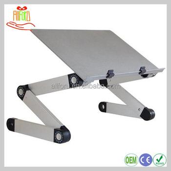 Small Portable Folding Aluminum Alloy Laptop Table 360 Degree Adjule Foldable Desk For Pc