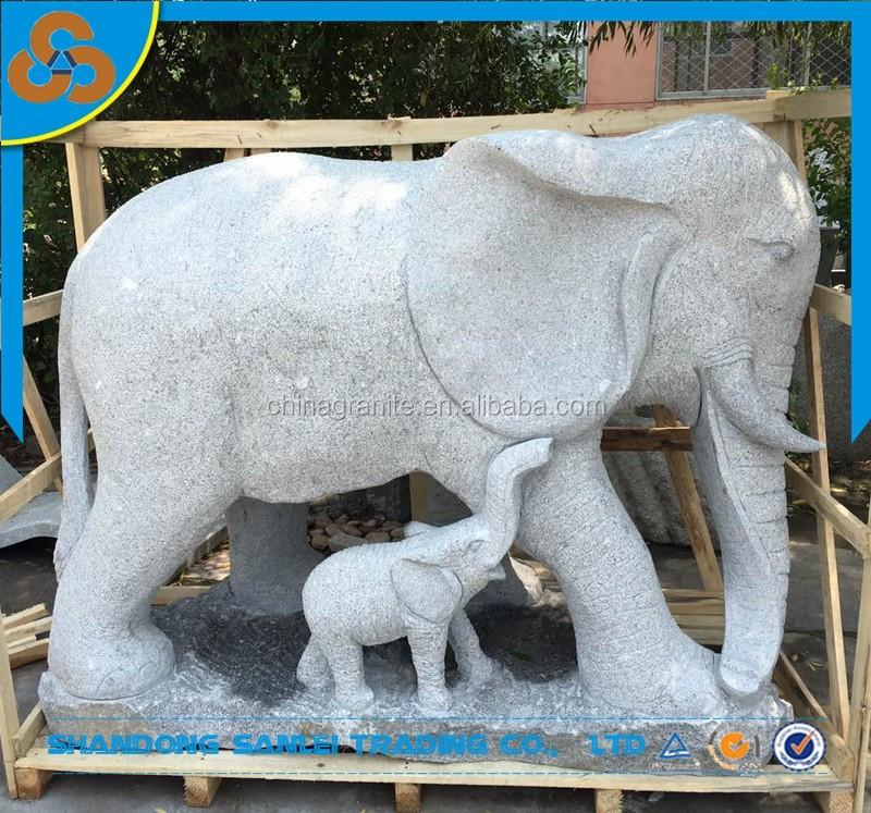 Garden Life Size Stone Carving Elephant Sculpture