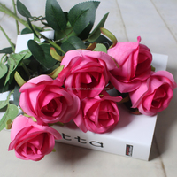 wedding party table decoration black rose flower