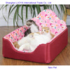 Most popular new coming summer pink dog bed luxury large dog beds