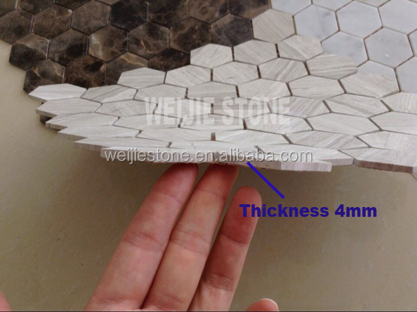 Legno venature del marmo grigio cucina mosaico piastrelle in a