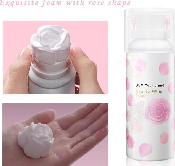 Moisturizing Soothing Beauty Whip Soap 3D Rose Facial Skin Cleanser