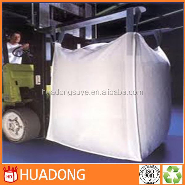 2015 high quality 100% virgin polypropylene fibc bag,FIBC jumbo bags 1000kg uv treated cross corner loops