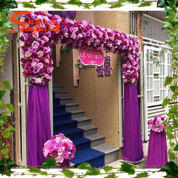 New design artificial wedding flower decor wedding flower New flower decoration