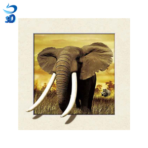 high quality animal elephant 3d lenticular picture customize poster