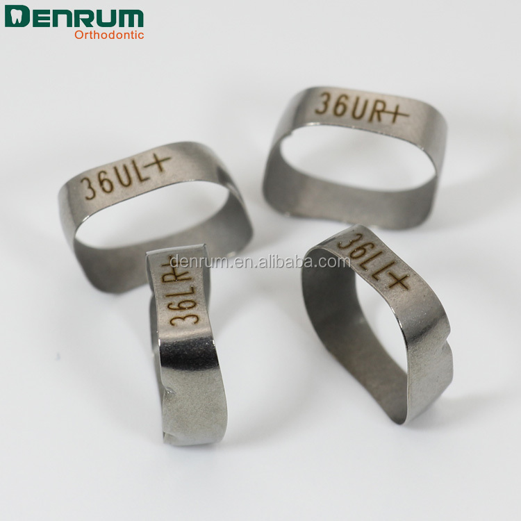 Denrum Orthodontic Materials Dental Molar Bands Without Buccal Tubes