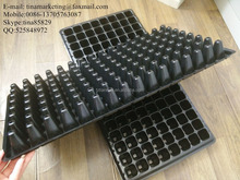128 Cells Black PS Material Plug Type Plastic Plant Nursery Seed Propagation Tray/Plastic Potted Flower Seedling Tray