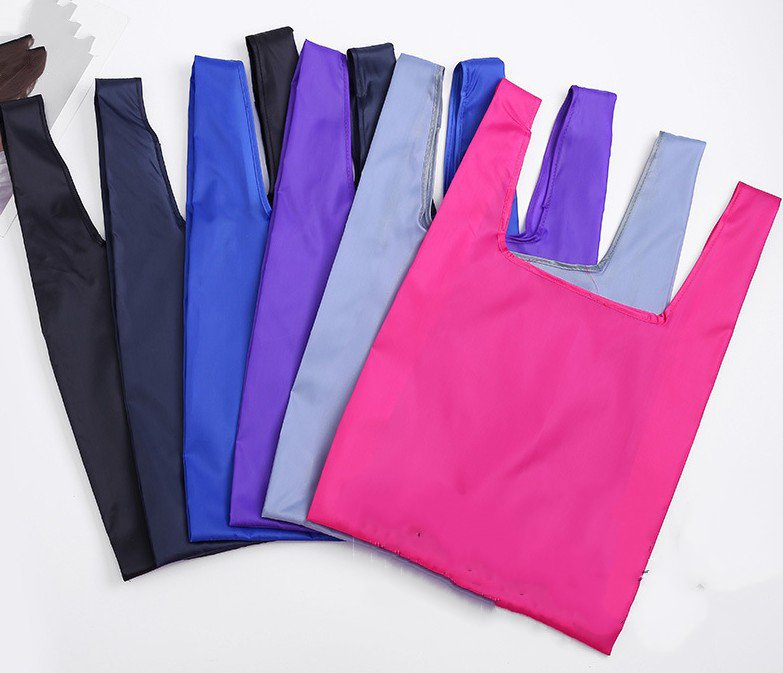 Neue Recycle Eco Freundliche Großhandel Feste Farbe Polyester Folding Tote Bag für shopping