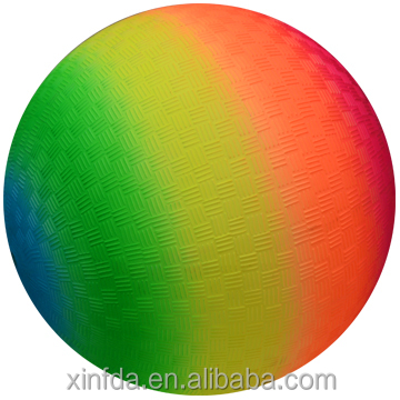 Rainbow playground ball popular toy ball for kids inflated PVC ball