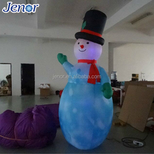 Led Light Inflatable Christmas Snowman with Hat
