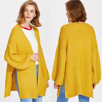 Womens Sweater Coat Knitting Patterns Slit Long Cardigan Buy