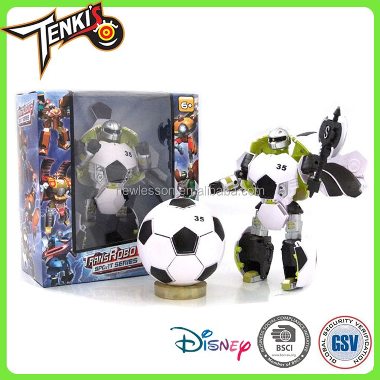 Hot Sale Colorful Robot Toys Football Pattern Transformable