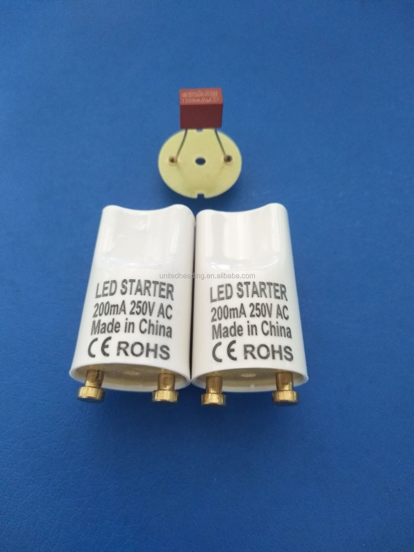 copper pin PC shell 0.5A fuse T8 led lamp starter